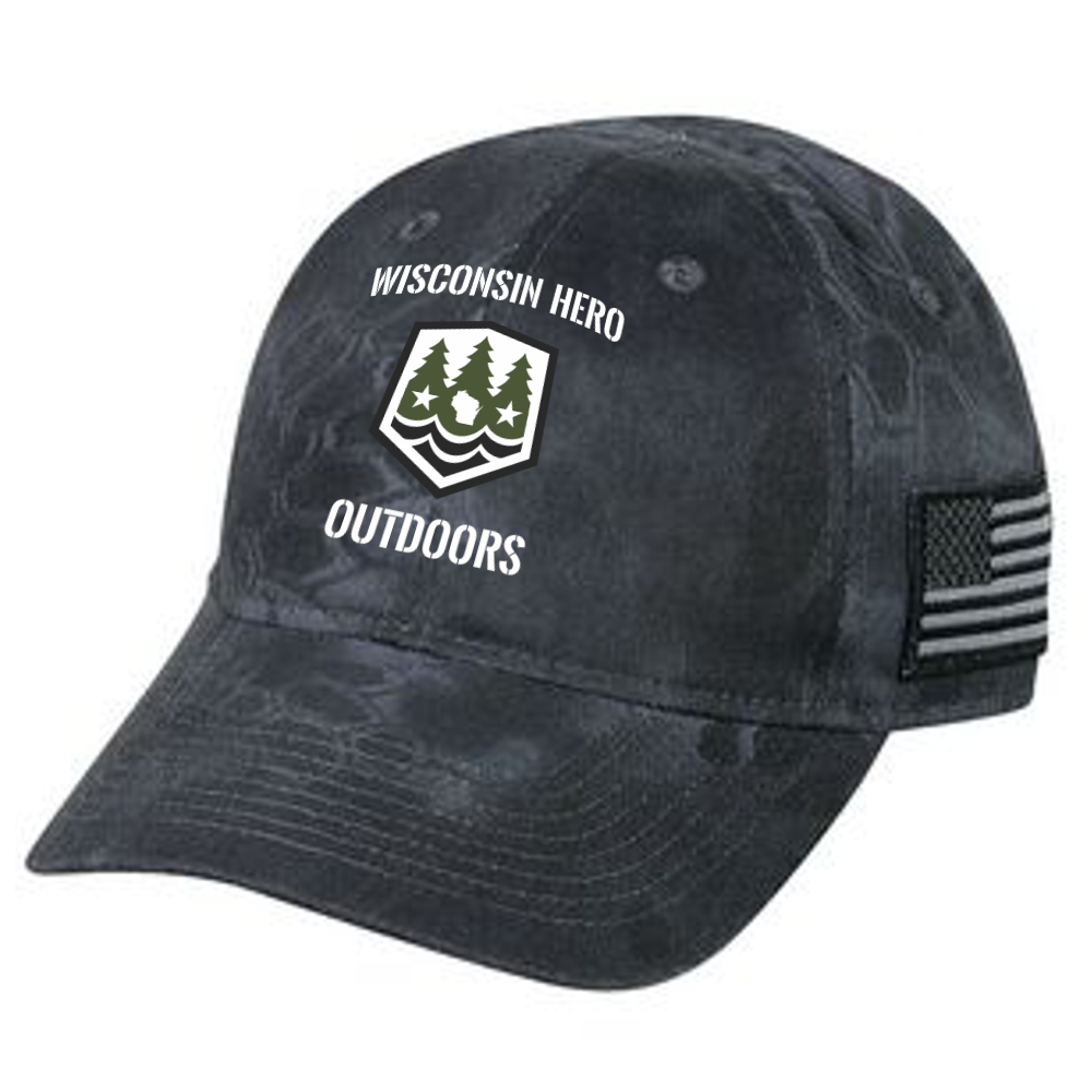 Black Camo WHO Hat - WISCONSIN HERO OUTDOORS LLC 9d46ba9adcd